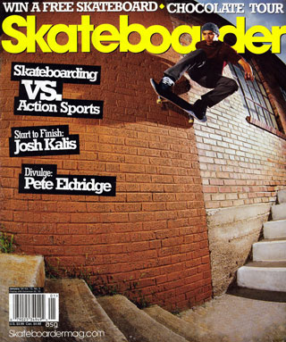 covers - Skateboarder, January 2004