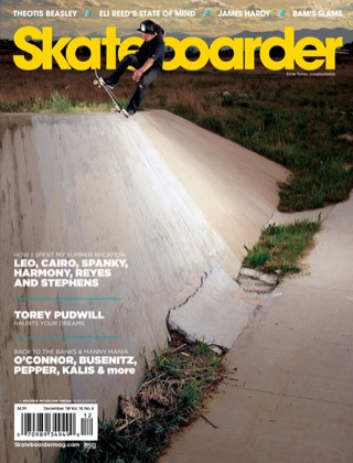 covers - Skateboarder, December 2008