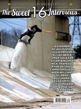covers - Skateboarder, Interview 2011