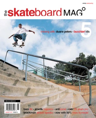 covers - The Skateboard Mag, August 2004