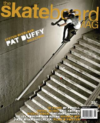covers - The Skateboard Mag, February 2007