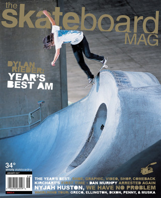 covers - The Skateboard Mag, January 2007