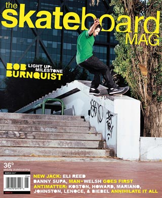 covers - The Skateboard Mag, March 2007