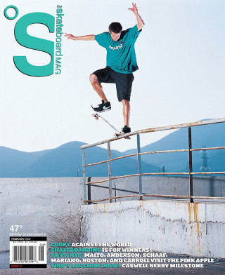 covers - The Skateboard Mag, February 2008