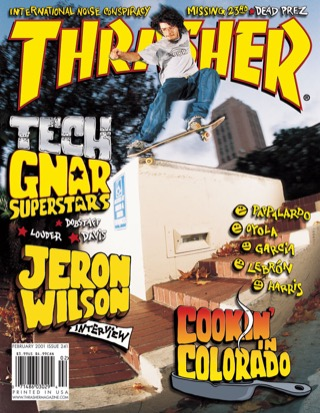 covers - Thrasher, February 2001