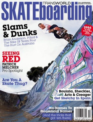 covers - Transworld, October 2006