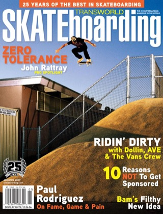 covers - Transworld, January 2007