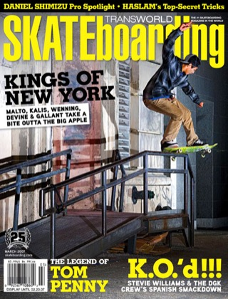 covers - Transworld, March 2007
