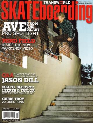covers - Transworld, April 2009