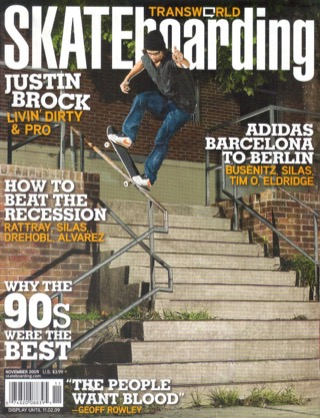 covers - Transworld, November 2009