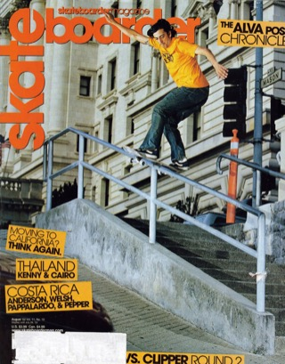 covers - Skateboarder, August 2002