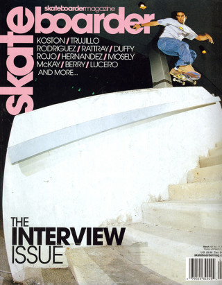 covers - Skateboarder, March 2002