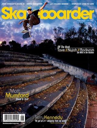 covers - Skateboarder, June 2007