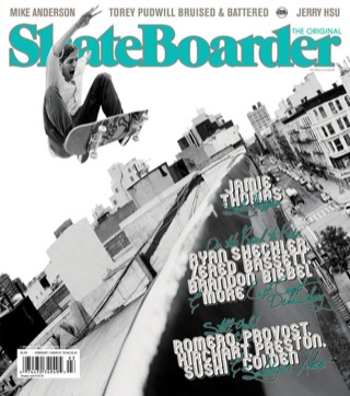 covers - Skateboarder, February/March 2012