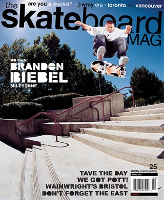 covers - The Skateboard Mag, April 2006