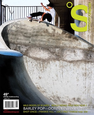 covers - The Skateboard Mag, April 2008