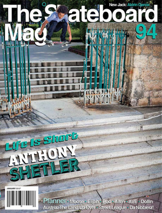 covers - The Skateboard Mag, January 2012