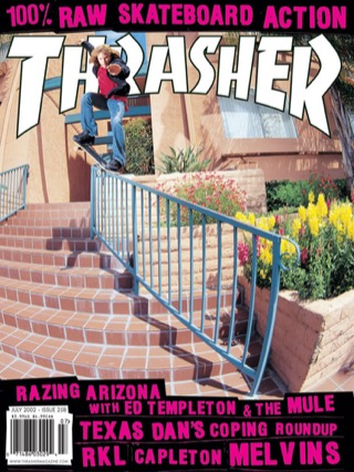 covers - Thrasher, July 2002