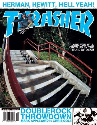 covers - Thrasher, April 2003
