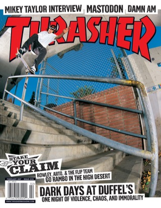 covers - Thrasher, February 2007