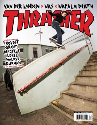 covers - Thrasher, July 2016