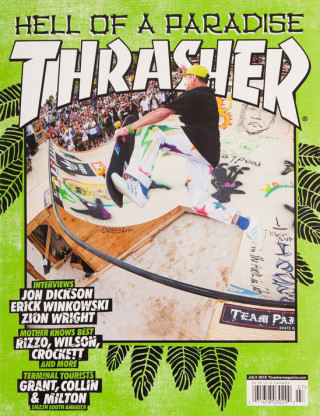 covers - Thrasher, July 2018