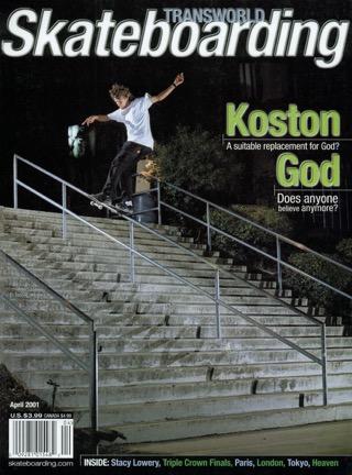 covers - Transworld, April 2001