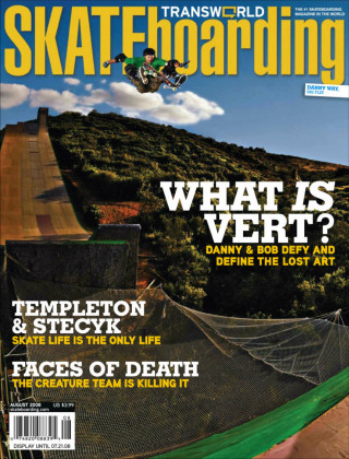 covers - Transworld, August 2008