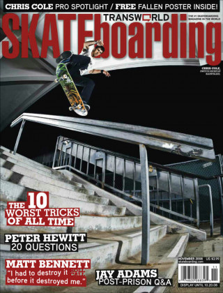 covers - Transworld, November 2008