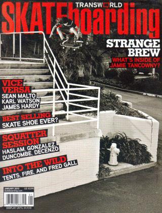 covers - Transworld, January 2010