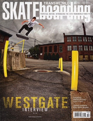 covers - Transworld, October 2012